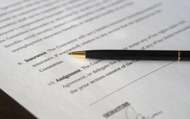 家賃保証の契約書